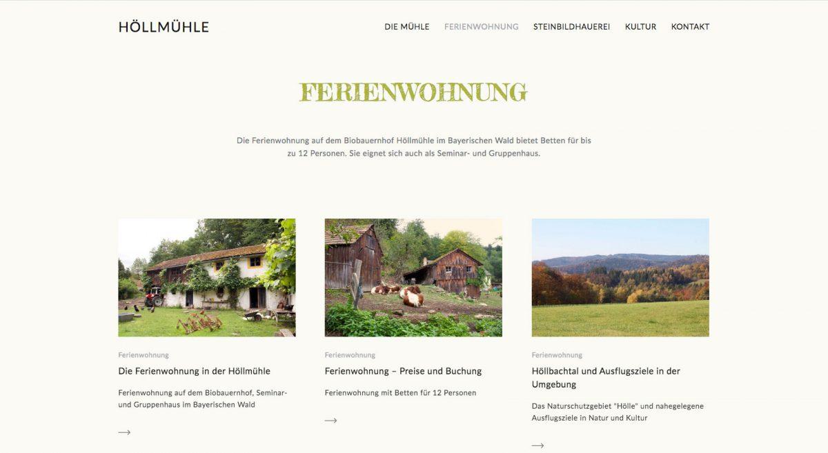 Höllmühle Ferien auf dem Biobauernhof